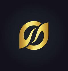 Circle beauty abstract gold logo vector