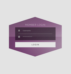 Creative member sign in form ui design vector