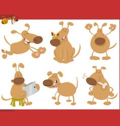 dog cartoon characters set vector image vector image