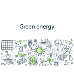 Green energy banner vector image vector image