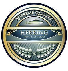 Herring Gold Label vector image vector image