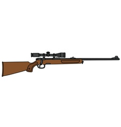 Hunting rifle with a telescope vector