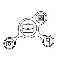 Icons connect network online vector
