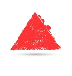 Paint strokes are triangular in shape vector image vector image