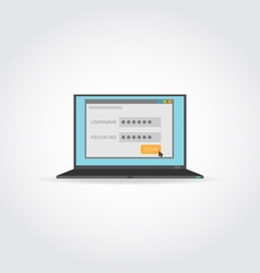 Password and login vector image