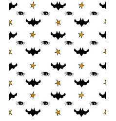 pattern of halloween element patches vector image vector image