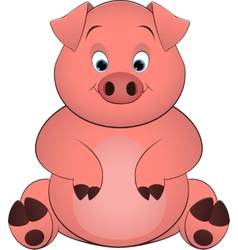 pig on a white background vector image