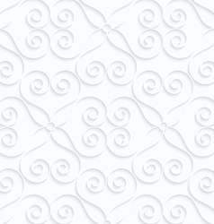 Quilling white paper hearts with swirls vector