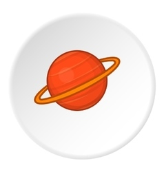 Saturn icon flat style vector