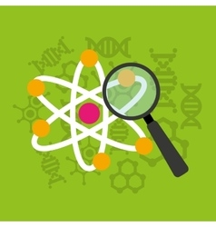 scientific laboratory flat line icons vector image