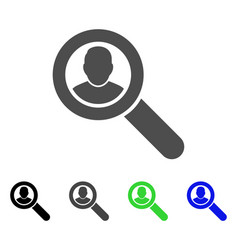 search user flat icon vector image