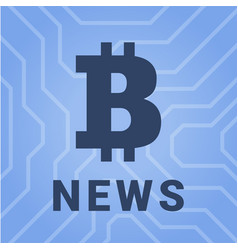 social with news of cryptocurrency vector image vector image
