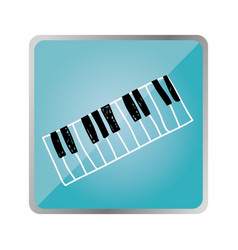 symbol piano instrument icon vector image