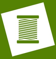 Thread sign white icon vector