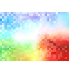 Tiles halftone colorful background vector image