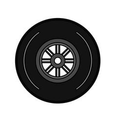 wheel tire icon image vector image