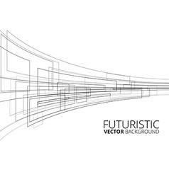 White futuristic vector