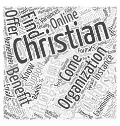How joining a christian organization can benefit vector