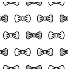 bow tie little gentleman seamless pattern vector image