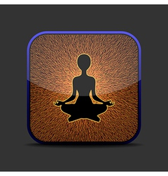Meditation icon vector