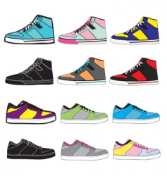 Sneakers set illustration vector