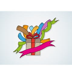 happy birthday and gift vector image