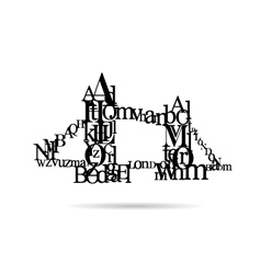 Typography London Bridge silhouette vector image
