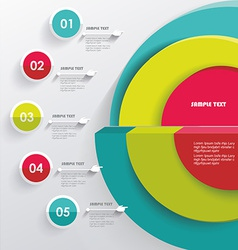 3D Infographic Can be used for number options vector image vector image