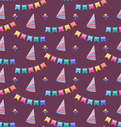 Seamless holiday pattern with colorful buntings vector
