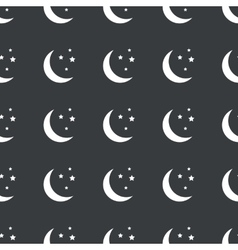 Straight black night pattern vector