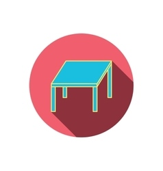 Table icon furniture desk sign vector