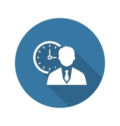 Time management icon business concept flat vector