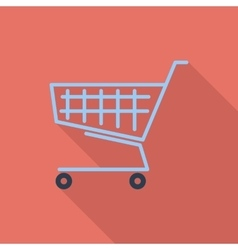 Cart single icon vector