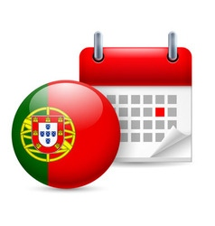 Icon of national day in portugal vector