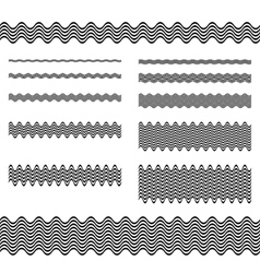 Graphic design elements - page divider line set vector