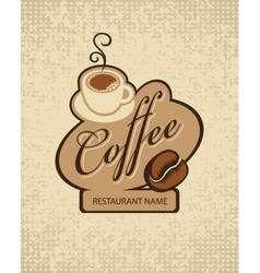 Cup of coffee and grain vector