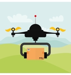 Helicopter drone design technology icon vector
