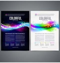 Business template page design with colorful shape vector image