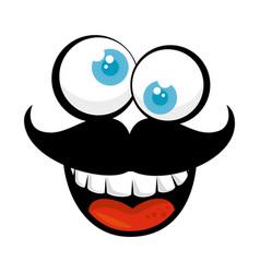 Cartoon face icon vector