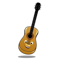 Cartoon wooden country guitar vector image vector image