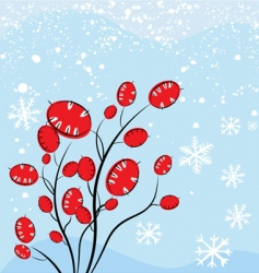 Christmas plant vector image vector image