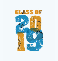 Class of 2019 concept stamped word art vector