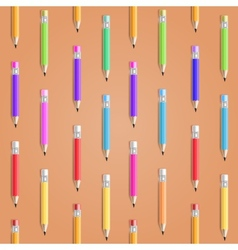 Color Pencil Seamless Background vector image