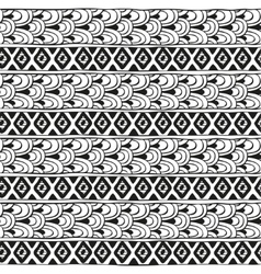 Ethnic geometric pattern of diamonds and vector image vector image