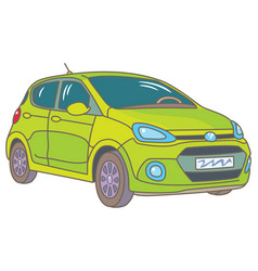 Green car vector