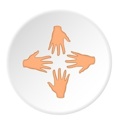 Hand icon flat style vector