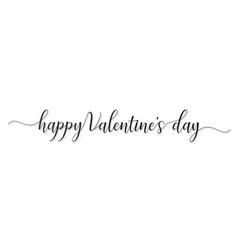happy valentines day hand lettered card greeting vector image