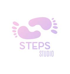 Logo of center of healthy feet vector