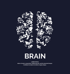Logo silhouette of brain vector