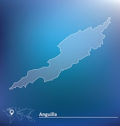 Map of Anguilla vector image vector image
